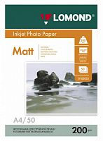 Фотобумага Lomond 0102033 A4/200г/м2/50л./белый матовое/матовое для струйной печати