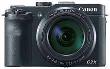 "Фотоаппарат Canon PowerShot G3 X черный 20.2Mpix Zoom25x 3.2"" 1080p SDXC/SD/SDHC CMOS IS opt 5minF rotLCD TouLCD 5.9fr/s RAW 60fr/s HDMI/WiFi/NB-10L"