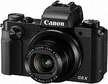 "Фотоаппарат Canon PowerShot G5 X черный 20.2Mpix Zoom4.2x 3"" 1080p SDXC/SD/SDHC CMOS IS opt 5minF rotLCD TouLCD VF 4.4fr/s RAW 60fr/s HDMI/WiFi/NB-13L"