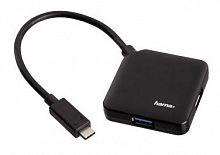 Разветвитель USB-C Hama 4порт. черный (00135750)