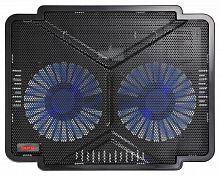 """Подставка для ноутбука Buro BU-LCP140-B214 14""""335x265x22мм 1xUSB 2x 140ммFAN 480г металлическая сетка/пластик черный"""