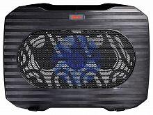 """Подставка для ноутбука Buro BU-LCP156-B114 15.6""""357x265x33мм 1xUSB 1x 140ммFAN 345г металлическая сетка/пластик черный"""