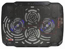"""Подставка для ноутбука Buro BU-LCP156-B208 15.6""""355x260x21мм 2xUSB 2x 80ммFAN 560г металлическая сетка/пластик черный"""