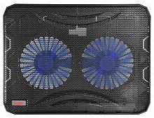 """Подставка для ноутбука Buro BU-LCP156-B214 15.6""""358x270x21мм 1xUSB 2x 140ммFAN 597г металлическая сетка/пластик черный"""