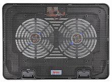 """Подставка для ноутбука Buro BU-LCP156-B214H 15.6""""355x255x30мм 2xUSB 2x 140ммFAN 900г металлическая сетка/пластик черный"""