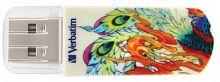 Флеш Диск Verbatim 32Gb Mini Tattoo Phoenix 49898 USB2.0 белый/рисунок