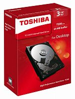 "Жесткий диск Toshiba SATA-III 3Tb HDWD130EZSTA P300 (7200rpm) 64Mb 3.5"" Rtl"