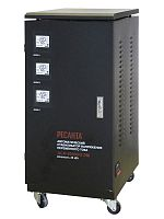 Стабилизатор напряжения Ресанта АСН-20000/3-ЭМ электромеханический трехфазный черный