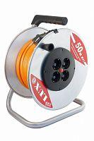 Удлинитель силовой LUX К4-Е-50 (40150) 3x1.5кв.мм 4розет. 50м ПВС 16A метал.катушка
