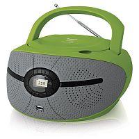 Аудиомагнитола BBK BX195U зеленый/серый 2Вт/CD/CDRW/MP3/FM(dig)/USB