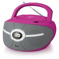 Аудиомагнитола BBK BX195U розовый 2Вт/CD/CDRW/MP3/FM(dig)/USB