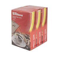 Фильтры для кофе для кофеварок Filtero №2 коричневый 1x2 (упак.:240шт)