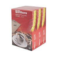Фильтры для кофе для кофеварок Filtero №4 коричневый (упак.:240шт)