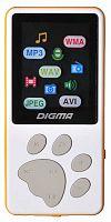 "Плеер Flash Digma S3 4Gb белый/оранжевый/1.8""/FM/microSD"