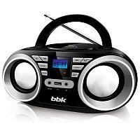 Аудиомагнитола BBK BX160BT черный 6Вт/CD/CDRW/MP3/FM(dig)/USB/BT