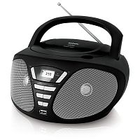 Аудиомагнитола BBK BX180U черный/серый 4Вт/CD/CDRW/MP3/FM(dig)/USB