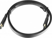 Кабель аудио-видео Buro Flat HDMI (m)/HDMI (m) 1м. черный (BHP HDMI 1)
