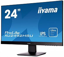 "Монитор Iiyama 23.8"" ProLite XU2492HSU-B1 черный IPS LED 5ms 16:9 HDMI M/M матовая 250cd 178гр/178гр 1920x1080 D-Sub DisplayPort FHD USB 3.6кг"