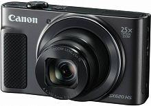 "Фотоаппарат Canon PowerShot SX620 HS черный 20.2Mpix Zoom25x 3"" 1080p SDXC/SD/SDHC CMOS 1x2.3 IS opt 5minF 2.5fr/s 30fr/s HDMI/WiFi/NB-13L"