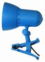 Светильник Трансвит НАДЕЖДА1MINI (NADEZHDA1MINI/BLU) настольный на прищепке E27 синий лазурь 40Вт