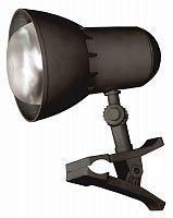 Светильник настольный Трансвит НАДЕЖДА1MINI (NADEZHDA1MINI/BL) на прищепке E27 черный 40Вт