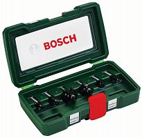 Набор фрез по дереву Bosch 6 НМ-SET (2607019463) d(посад.)=8мм (фрезеры)