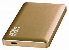 "Внешний корпус для HDD AgeStar 31UB2A16C SATA алюминий золотистый 2.5"""