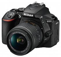 "Зеркальный Фотоаппарат Nikon D5600 черный 24.2Mpix 18-55 VR AF-P f/3.5-5.6G 3"" 1080p Full HD SDXC Li-ion"
