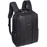 """Рюкзак для ноутбука 15.6"""" Riva 8165 черный полиуретан/полиэстер"""
