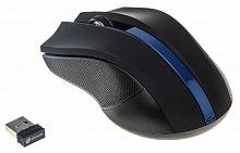 Мышь Oklick 615MW черный/синий оптическая (1000dpi) беспроводная USB (2but)