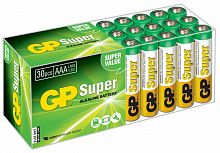 Батарея GP Super Alkaline 24A LR03 AAA (30шт)