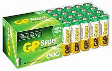 Батарея GP Super Alkaline 24A LR03 AAA (40шт)