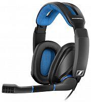 Наушники с микрофоном Sennheiser GSP 300 черный/синий 2.5м накладные оголовье (507079)