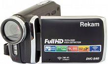 """Видеокамера Rekam DVC-540 черный IS el 3"""" 1080p SD+MMC Flash/Flash"""