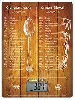 Весы кухонные электронные Scarlett SC-KS57P19 макс.вес:8кг рисунок