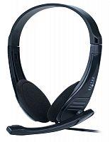 Наушники с микрофоном Оклик HS-M150 черный 2.2м накладные оголовье (NO-003N)