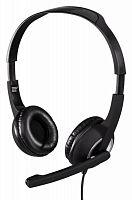 Наушники с микрофоном Hama Essential HS-P150 черный/серебристый 2м мониторные оголовье (00053982)