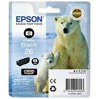 Картридж струйный Epson T2611 C13T26114012 фото черный (200стр.) (4.7мл) для Epson XP-600/700/800