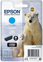 Картридж струйный Epson T2612 C13T26124012 голубой (300стр.) (4.5мл) для Epson XP-600/700/800