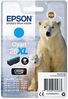Картридж струйный Epson T2632 C13T26324012 голубой (700стр.) (8.7мл) для Epson XP-600/700/800