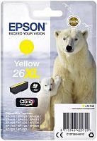 Картридж струйный Epson T2634 C13T26344012 желтый (700стр.) (8.7мл) для Epson XP-600/700/800