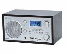 Радиоприемник портативный Сигнал БЗРП РП-320 дерево темное/серебристый USB SD