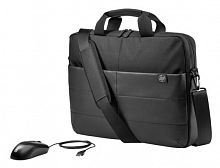 """Сумка для ноутбука 15.6"""" HP Classic Briefcase черный синтетика (1FK07AA)"""