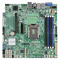 Материнская Плата Intel DBS1200SPSR iC232 uATX 4xDDR4 6xSATA3 SATA RAID 2хGgbEth Ret