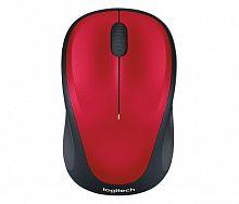 Мышь Logitech M235 красный/черный оптическая (1000dpi) беспроводная USB2.0 для ноутбука (2but)