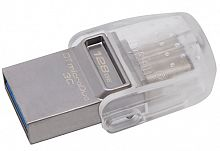 Флеш Диск Kingston 128Gb DataTraveler microDuo DTDUO3C/128GB USB3.1 серебристый