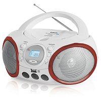 Аудиомагнитола BBK BX150BT белый/красный 4Вт/CD/CDRW/MP3/FM(dig)/USB/BT