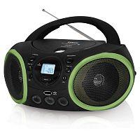 Аудиомагнитола BBK BX150BT черный/зеленый 4Вт/CD/CDRW/MP3/FM(dig)/USB/BT