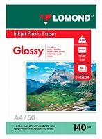 Фотобумага Lomond 0102054 A4/140г/м2/50л./белый глянцевое для струйной печати