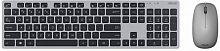 Клавиатура + мышь Asus W5000 клав:серый/черный мышь:серый USB беспроводная slim Multimedia